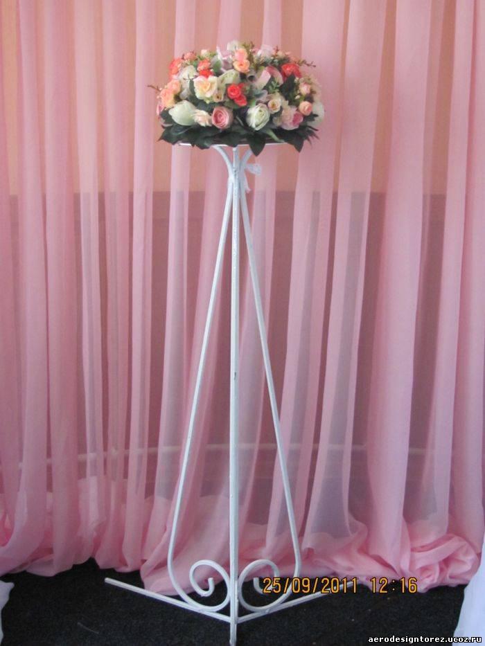 Свадебные стойки для цветов своими руками 42